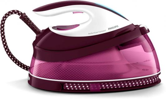 Парогенератор Philips GC7808/40 2400Вт белый фиолетовый утюг philips gc4519 30 2400вт фиолетовый белый