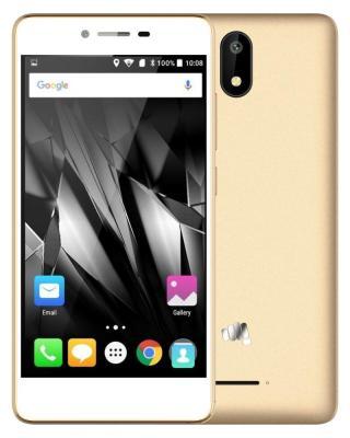 """Смартфон Micromax Q409 шампань 5"""" 8 Гб LTE Wi-Fi GPS 3G"""