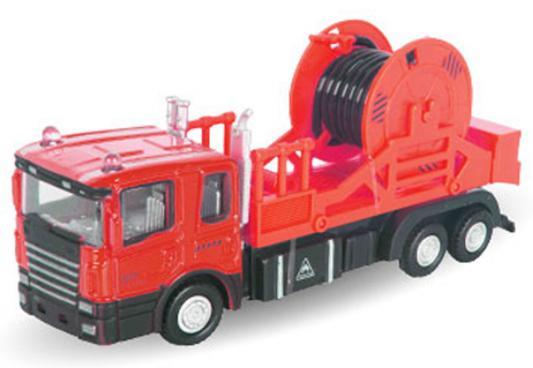 Грузовик Autotime Mechanic Truck с катушкой 1:48 красный 34133 autotime набор машинок recovery truck long эвакуатор с прицепом