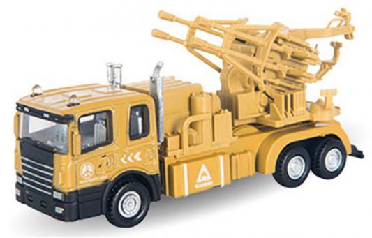 Грузовик Autotime Transporter с зенитной установкой 1:48 бежевый 34135 машинки autotime машина lada 111 пожарная охрана