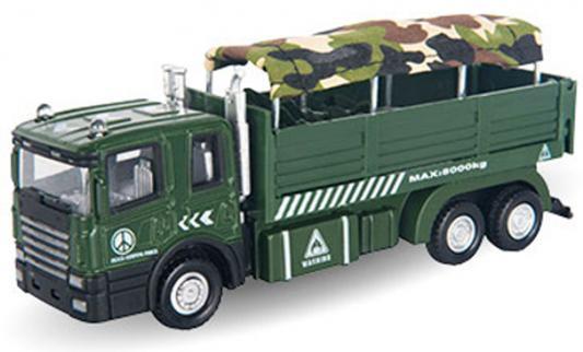 Грузовик Autotime Military Autotrack для перевозки солдат 1:48 зеленый  34136