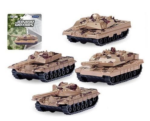 Танк мет. Autotime Combat Defender пустынный камуфляж в асс-те 1:50