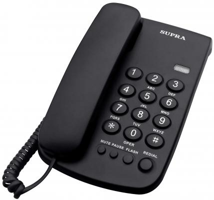 Телефон Supra STL-320 черный