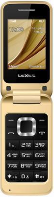 """Мобильный телефон Texet TM-304 золотистый 2.4"""""""