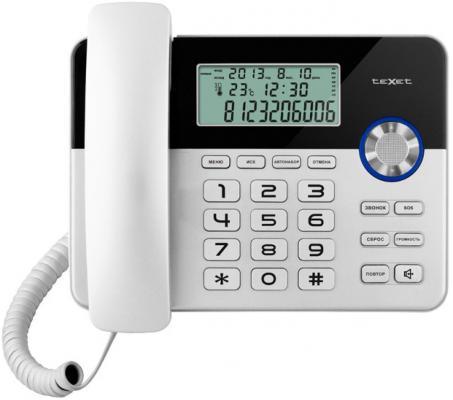 Телефон проводной Texet TX-259 серебристо-черный цена