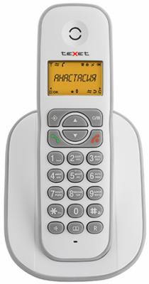 Радиотелефон DECT Texet TX-D4505A Dect бело-серый радиотелефон dect texet tx d6705a черный