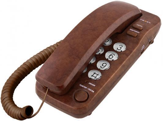 Телефон проводной Texet TX-226 коричневый