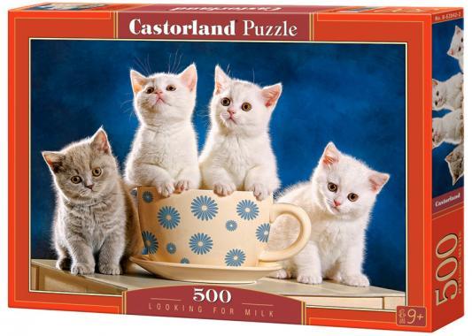 Пазл 500 элементов Кастор Четыре котенка  B-52042 бесплатно бенгальского котенка на сахалине