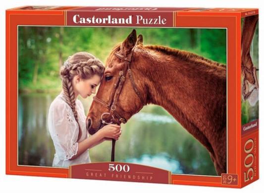 Пазл 500 элементов Кастор Девушка и лошадь B-52516