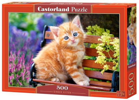 Купить Пазл 500 элементов Кастор Рыжий котенок B-52240, Пазлы-картины