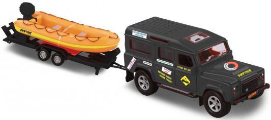 Автомобиль Пламенный мотор Land Rover Рафтинг 1:34 разноцветный  870103 пламенный мотор инерционная джип военный 1 24