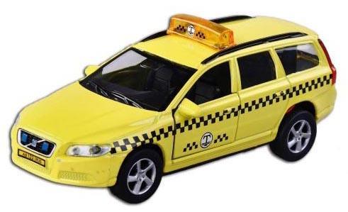 Машина Пламенный мотор Volvo V70 Такси 13 см желтый  870190 машина пламенный мотор такси 87644
