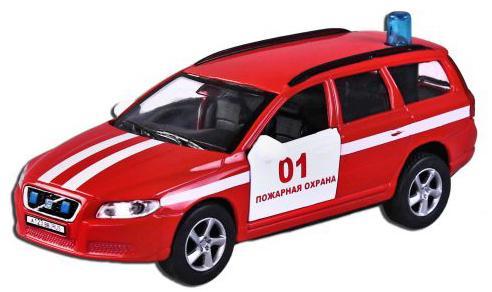 Машина Пламенный мотор Volvo V70 Пожарная охрана красный 13 см