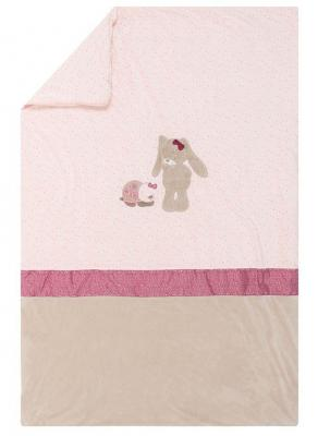 Купить Плед Nattou 100*135см Nina, Jade & Lili Кролик, Единорог, Черепашка (987493), розовый, 100 х 135 см, Одеяла и пледы