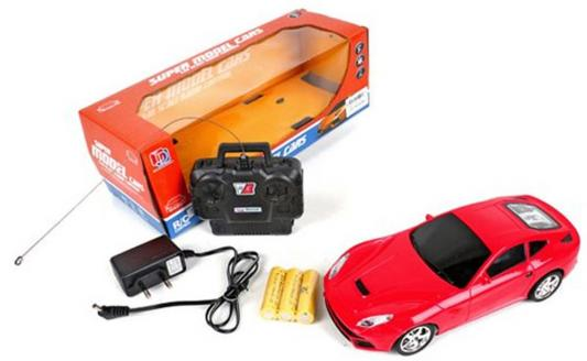 Машинка на радиоуправлении Shantou Gepai Model Car красный от 5 лет пластик 1:18, 4 канала, свет 557-03