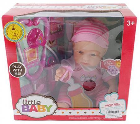 Пупс Shantou Gepai Little Baby - Лечение пупса 35 см со звуком AD18 shantou gepai каталка ходунки бегемотик со светом и звуком shantou gepai