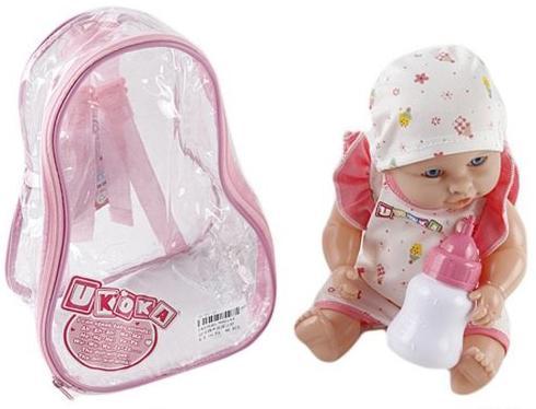 Купить Пупс Shantou Gepai Ukoka Baby 30 см со звуком 8001A4, пластик, Пупсы