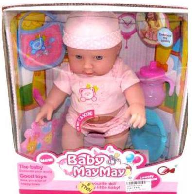 Пупс Shantou Gepai Baby May May с аксессуарами 30 см со звуком  516-B
