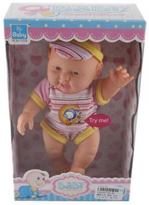 Кукла Shantou Gepai Baby - Мальчик 22 см со звуком YD-66 кукла shantou gepai amore baby 23 см p8872 16 pvc