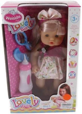 Кукла Shantou Gepai Даша в розовом платье 30 см со звуком 6620-8