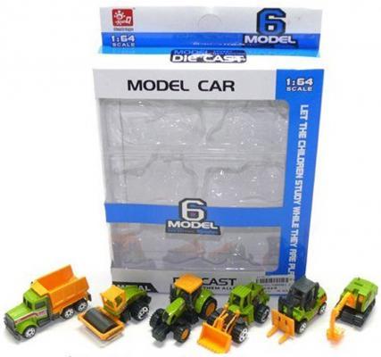 Игровой набор Shantou Gepai Model Car - Спецтехника 6 шт разноцветный  SQ80861-2
