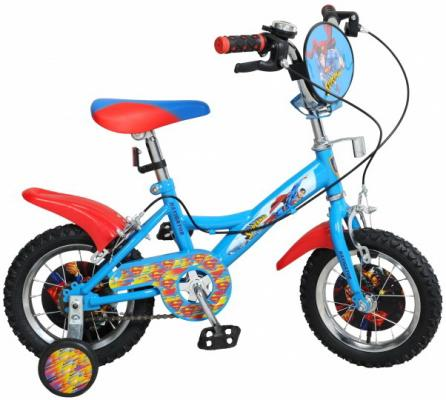 Велосипед двухколёсный Навигатор Супермен KITE-тип 12 голубой-красный  ВН12100 самокат навигатор фиксики 12 двухколёсный