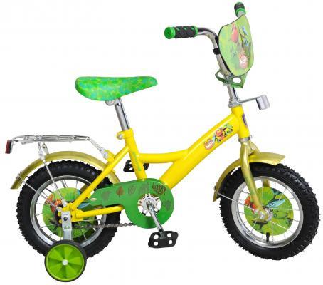 """Велосипед Navigator """"Поезд динозавров"""" 12"""" желто-зеленой"""