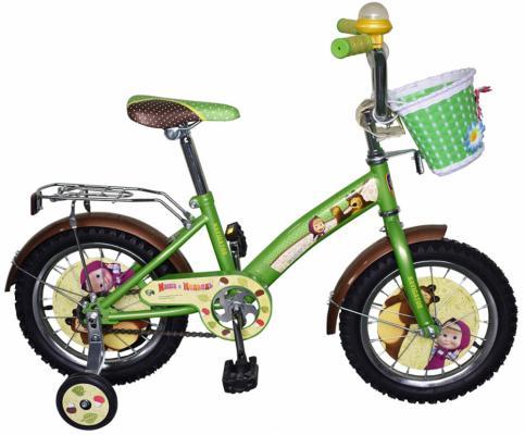 """Велосипед двухколёсный Navigator """"Маша и Медведь"""" 14"""" желто-зеленой ВН141"""