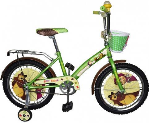"""Велосипед Navigator """"Маша и Медведь"""" 18"""" желто-зеленой"""