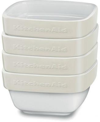 Форма для запекания KitchenAid KBLR04RMAC керамика бежевый kitchenaid kblr04nsac набор из 4 керамических кастрюль для запекания cream