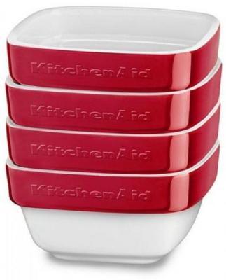 Форма для запекания KitchenAid KBLR04RMER керамика красный форма для выпекания керамика kitchenaid набор kblr02mbac 2шт по 0 45л