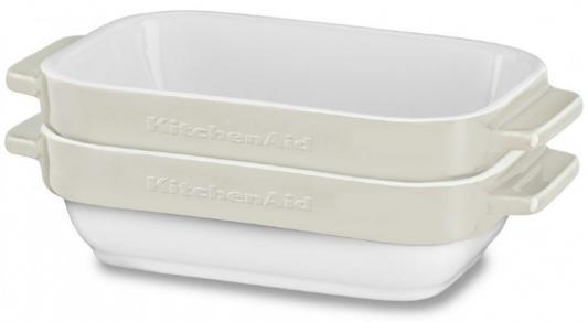 Форма для запекания KitchenAid KBLR02MBAC керамика бежевый kitchenaid форма для запекания 27 5х37х7 5 см