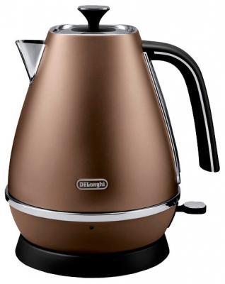 Чайник DeLonghi KBI2001.BZ 2000 Вт коричневый 1.7 л металл цена 2017