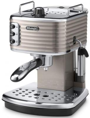 Кофеварка DeLonghi Scultura ECZ351.BG бежевый серебристый delonghi fh 1394 white