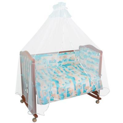 Комплект в кроватку 4 предмета Тайна Снов Топтыжки (голубой)