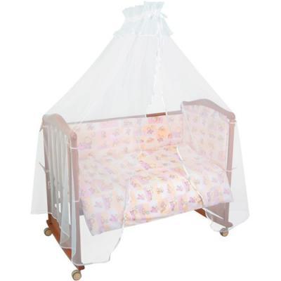 Комплект в кроватку 4 предмета Тайна Снов Топтыжки (розовый)