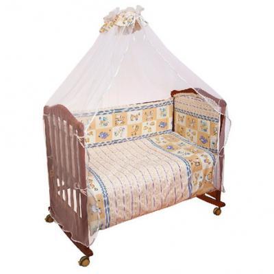 Бампер в кроватку Сонный Гномик Считалочка (бежевый)