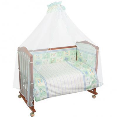 Бампер в кроватку Сонный Гномик Считалочка (салатовый) сонный гномик борт считалочка сонный гномик салатовый