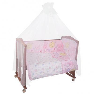 Бампер в кроватку Сонный Гномик Акварель (розовый) борт в кроватку сонный гномик считалочка бежевый бсс 0358105 4