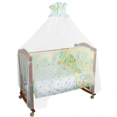Бампер в кроватку Сонный Гномик Акварель (бирюзовый)