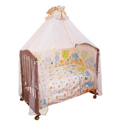 Бампер в кроватку Сонный Гномик Акварель (голубой)