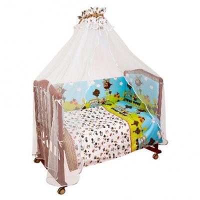 Бампер в кроватку Сонный Гномик Каникулы (голубой)