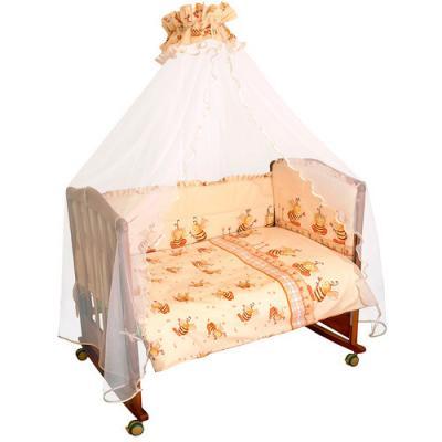 Бампер в кроватку Сонный Гномик Пчелки (бежевый)