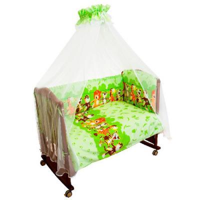 Бампер в кроватку Сонный Гномик Африка (салатовый)