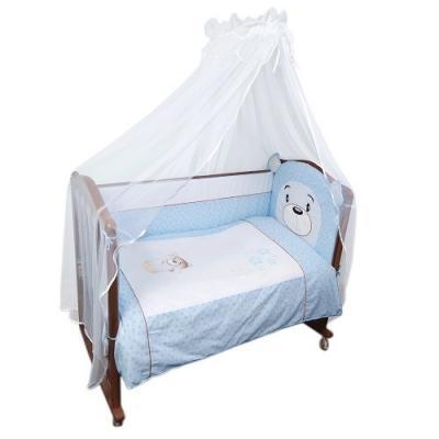 Бампер в кроватку Сонный Гномик Умка (голубой)