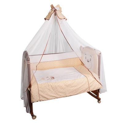 Бампер в кроватку Сонный Гномик Умка (бежевый)