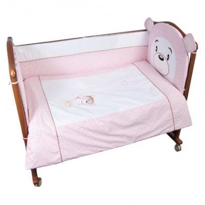 Бампер в кроватку Сонный Гномик Умка (розовый)