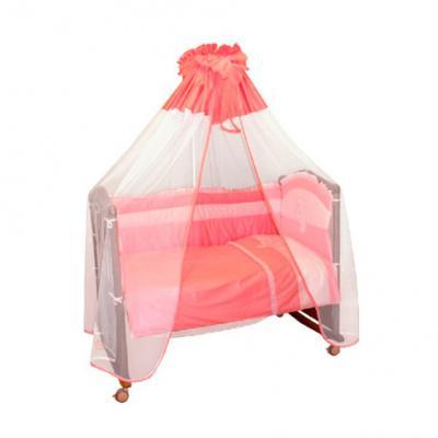 Бампер в кроватку Сонный Гномик Пушистик (розовый) сонный гномик борт в кроватку пушистик сонный гномик