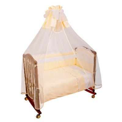 Бампер в кроватку Сонный Гномик Пушистик (бежевый)