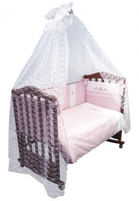 Бампер в кроватку Сонный Гномик Прованс (розовый)